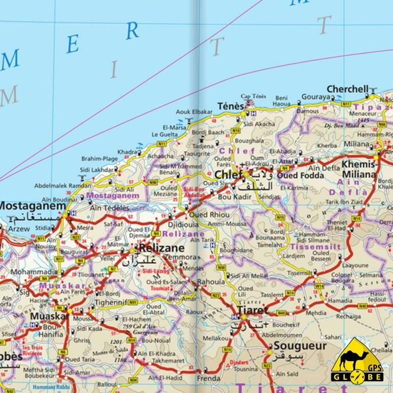 carte gps algerie