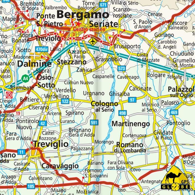 carte gps Italie