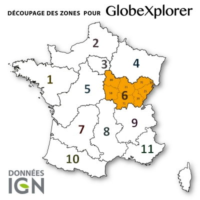 Carte IGN de la Zone 6 au 1 : 25 000