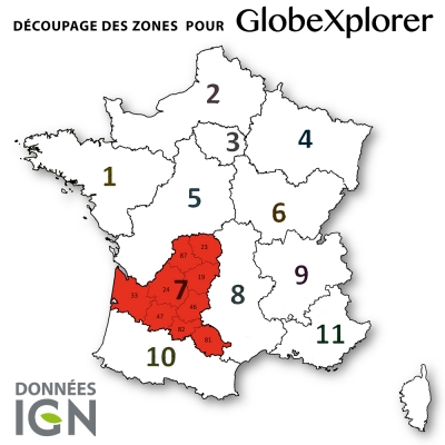 Carte IGN de la Zone 7 au 1 : 25 000