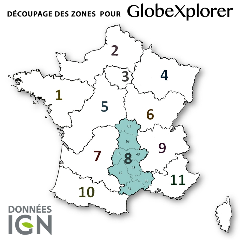 Carte IGN de la Zone 8 au 1 : 25 000