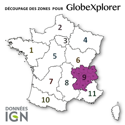 Carte IGN de la Zone 9 au 1 : 25 000