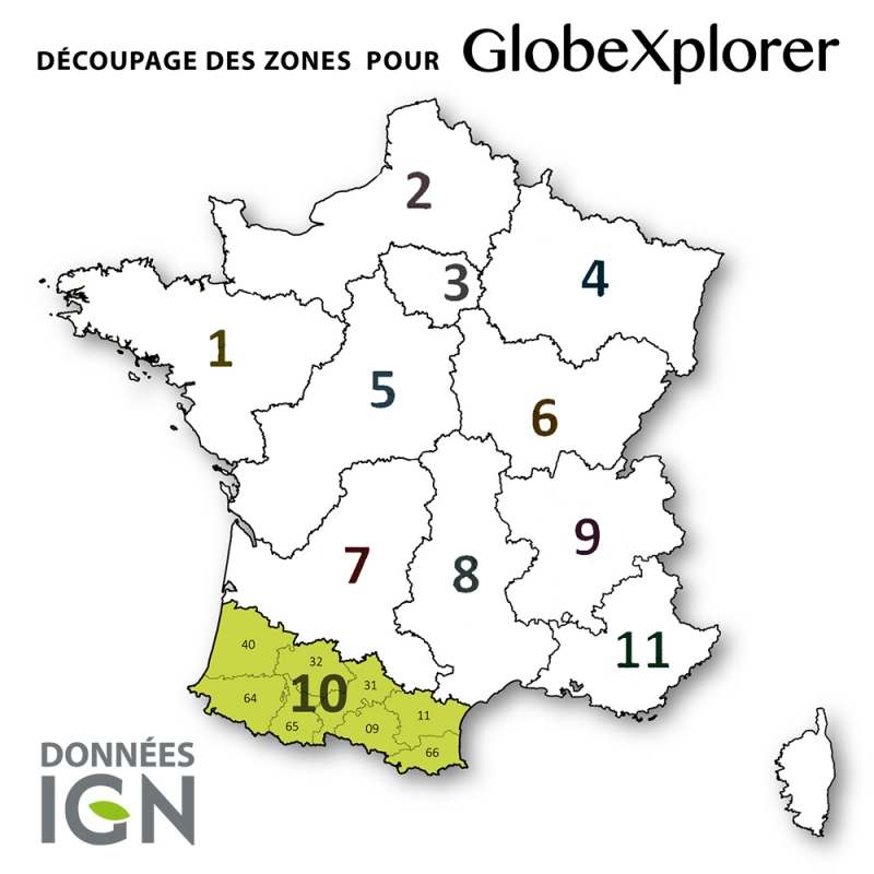 Carte IGN de la Zone 10 au 1 : 25 000
