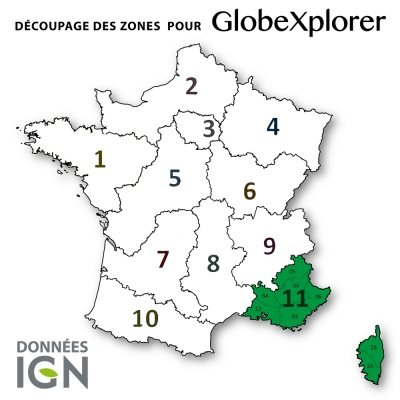 Carte IGN de la Zone 11 au 1 : 25 000