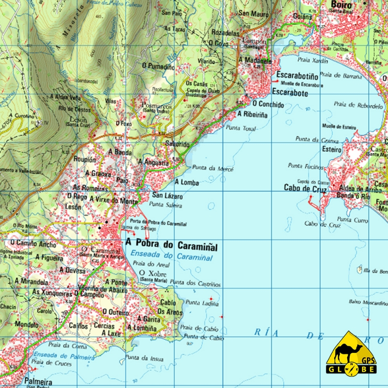 carte espagne nord ouest
