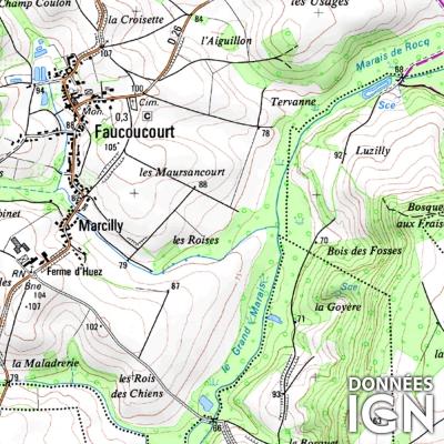 Département IGN - Aisne 02 - 1 : 25 000