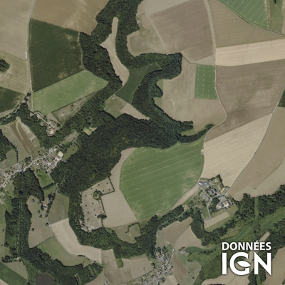 Département IGN - Satellite - Aisne 02 - 1 : 25 000