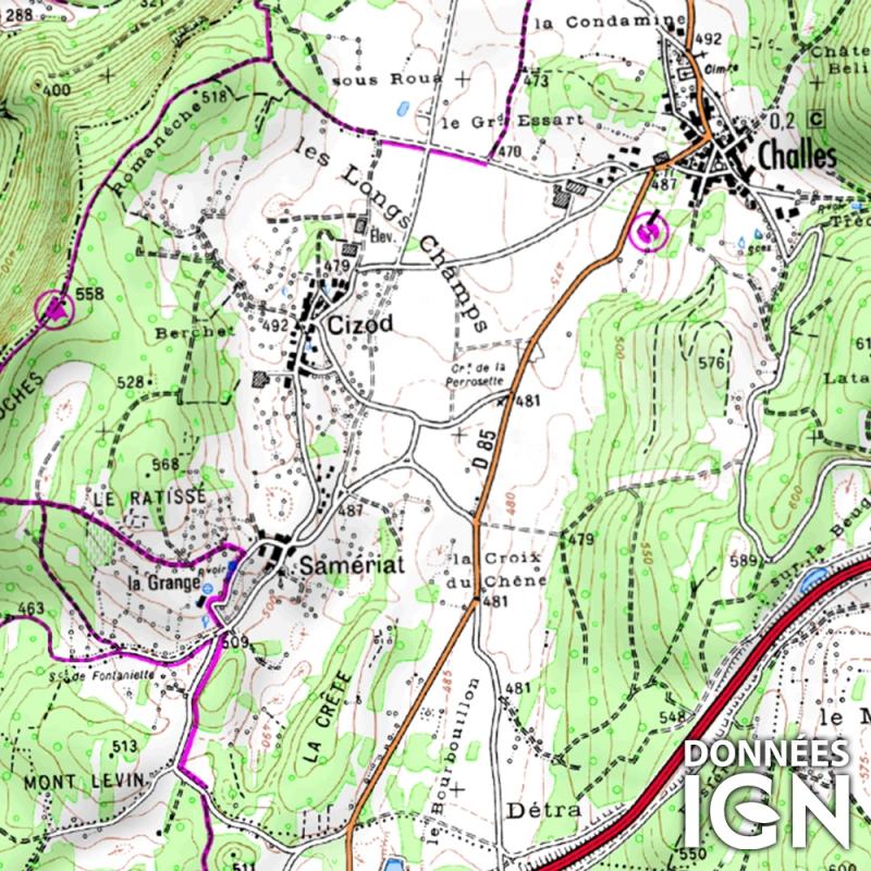 Carte Ign Au 1 25 000 Pour Gps Rhones Alpes