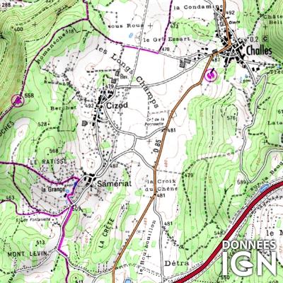 Région Rhône-Alpes - 1 : 25 000