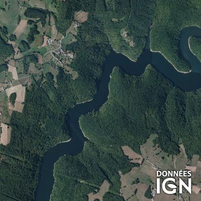Région IGN - Satellite - Limousin Auvergne - 1 : 25 000