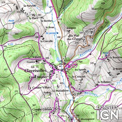 Département Rhône (69) - 1 : 25 000
