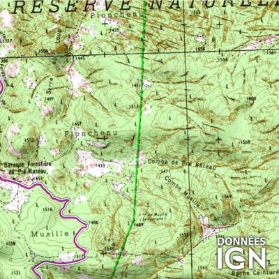 Département Isère (38) - 1 : 25 000