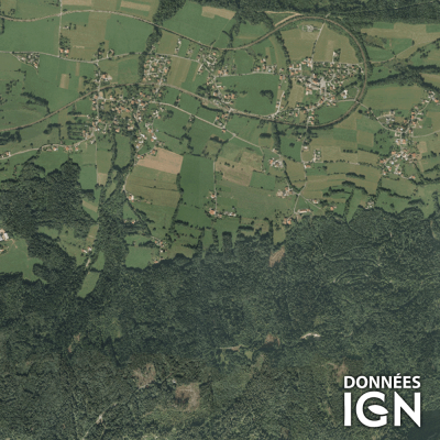 Département Haute-Savoie (74) - Satellite - 1 : 25 000