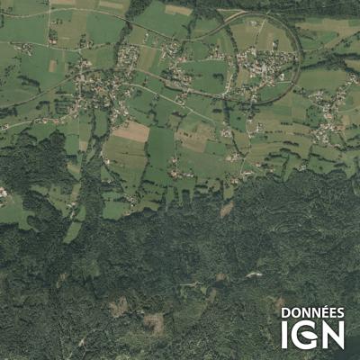 Département IGN - Satellite - Haute-Savoie 74 - 1 : 25 000
