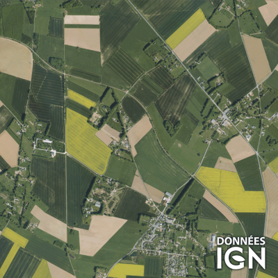 Département IGN - Satellite - Seine-Maritime 76 - 1 : 25 000