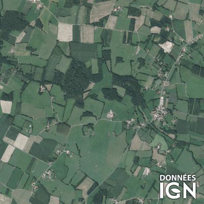 Département Saone-sur-Loire (71) - Satellite - 1 : 25 000