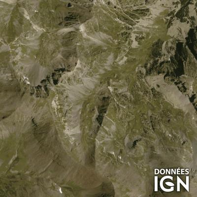 Département IGN - Satellite - Pyrénées Orientales 66 - 1 : 25 000