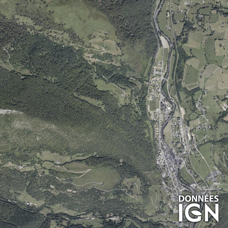 Département IGN - Satellite - Hautes Pyrénées 65 - 1 : 25 000