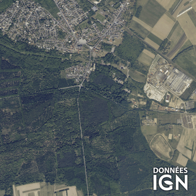 Département IGN - Satellite - Bas-Rhin 67 - 1 : 25 000