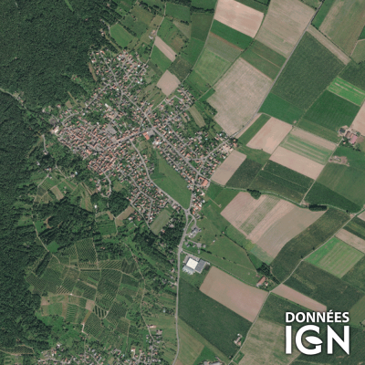 Département IGN - Satellite - Haut-Rhin 68 - 1 : 25 000