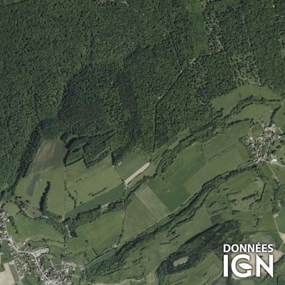 Département Haute-Saone (70) - Satellite - 1 : 25 000