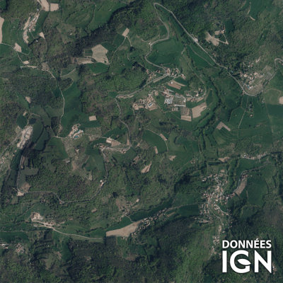 Département IGN - Satellite - Rhone 69 - 1 : 25 000
