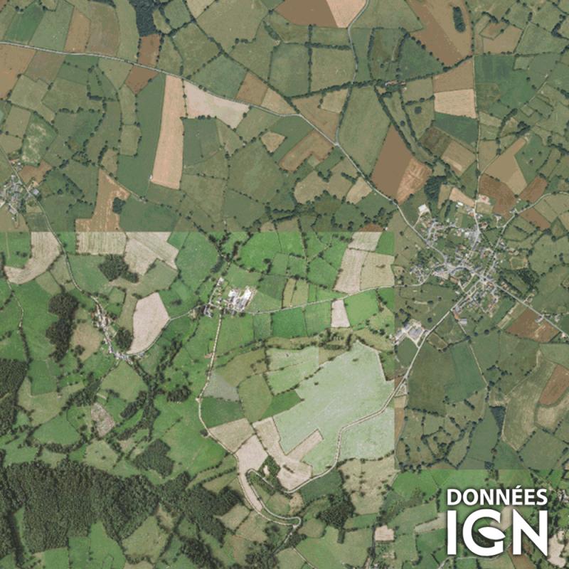 Département IGN - Satellite - Puy-de-Dôme 63 - 1 : 25 000