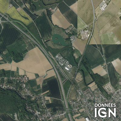 Département IGN - Satellite - Val-d'Oise 95 - 1 : 25 000