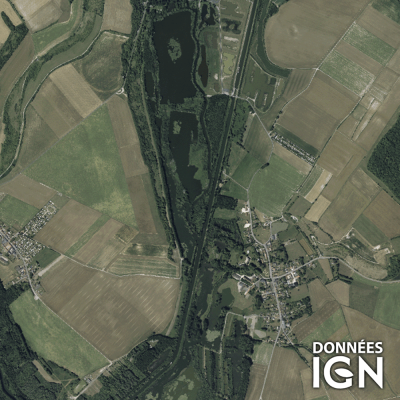 Département IGN - Satellite - Somme 80 - 1 : 25 000