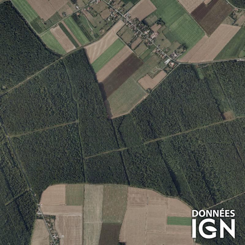 Département IGN - Satellite - Pas-de-Calais 62 - 1 : 25 000