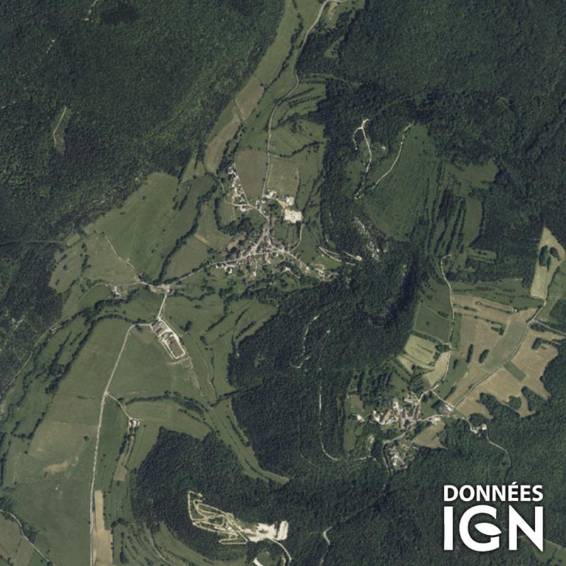 Département IGN - Satellite - Jura 39 - 1 : 25 000