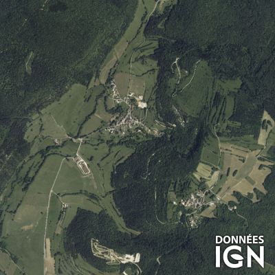 Département IGN - Satellite - Jura 39 - 1 : 25 000