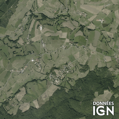 Département IGN - Satellite - Loire 42 - 1 : 25 000