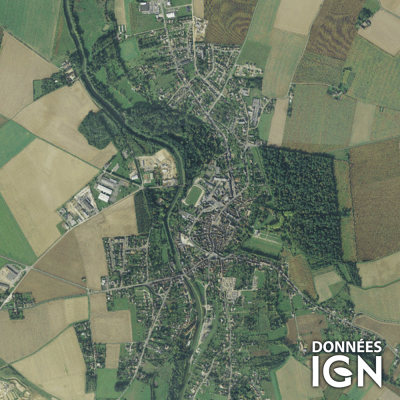 Département IGN - Satellite - Loiret 45 - 1 : 25 000