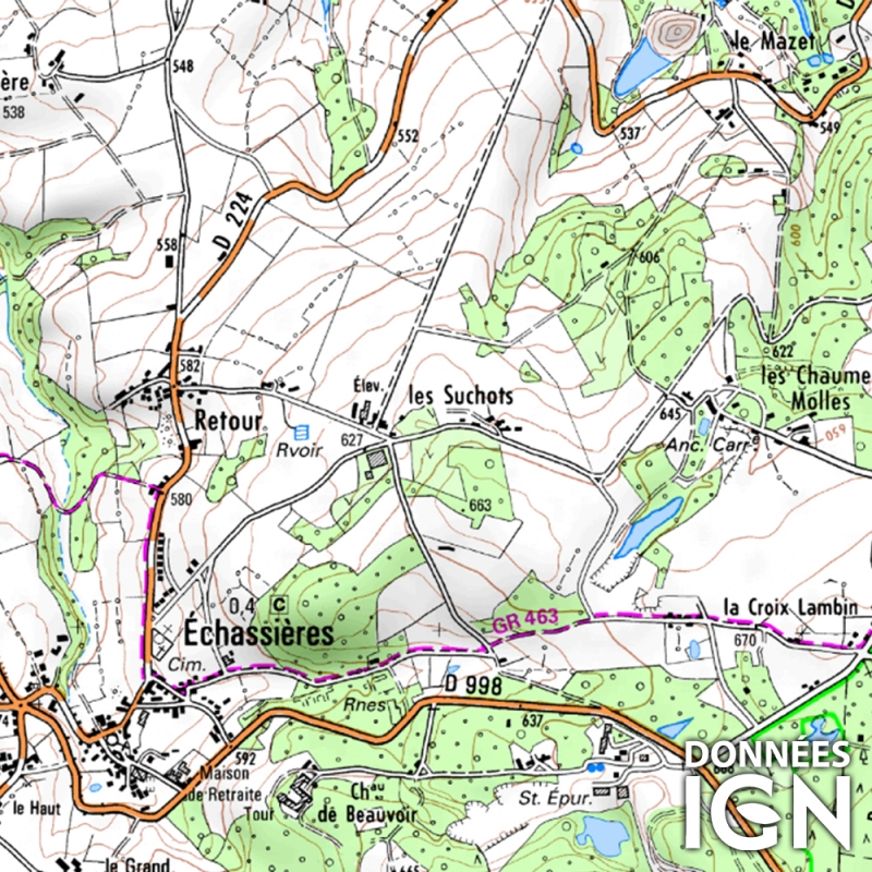 Département IGN - Allier 03 - 1 : 25 000