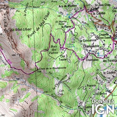 Département IGN - Alpes de Hte Provence 04 - 1 : 25 000