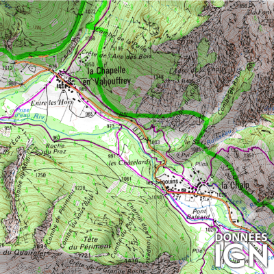 Département Hautes-Alpes (05) - 1 : 25 000