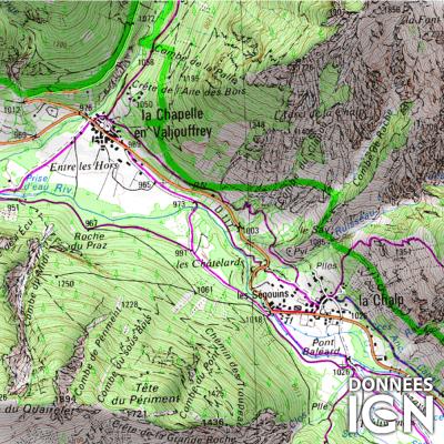 Département IGN - Hautes-Alpes 05 - 1 : 25 000