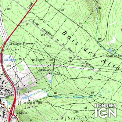 Département Ardennes (08) - 1 : 25 000