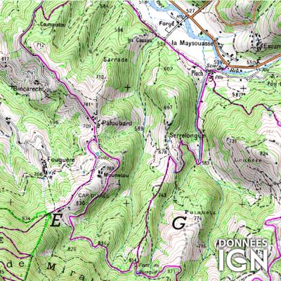 Département IGN - Ariège 09 - 1 : 25 000