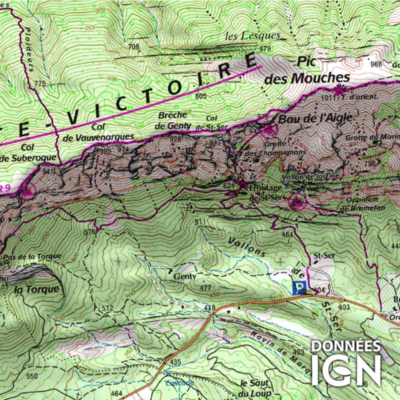 Département IGN - Bouches du Rhône 13 - 1 : 25 000