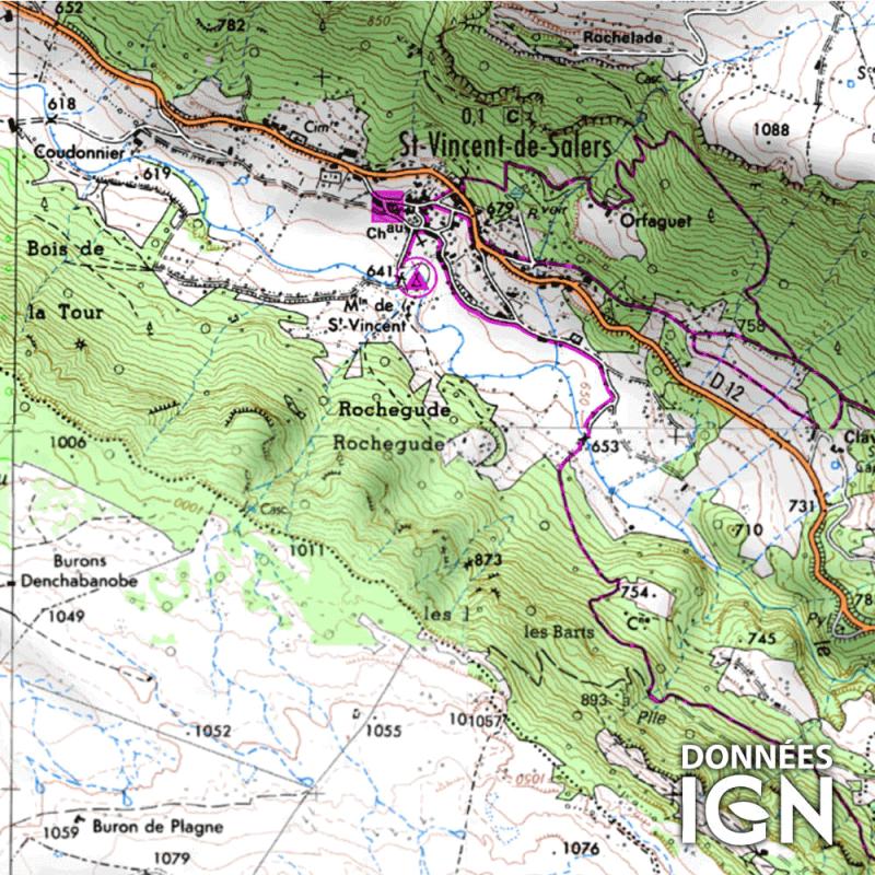 Département IGN - Cantal 15 - 1 : 25 000