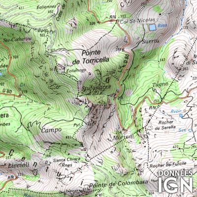 Département IGN - Haute Corse 2B - 1 : 25 000