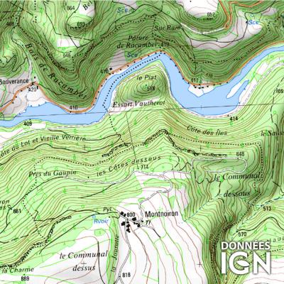 Département IGN - Doubs 25 - 1 : 25 000