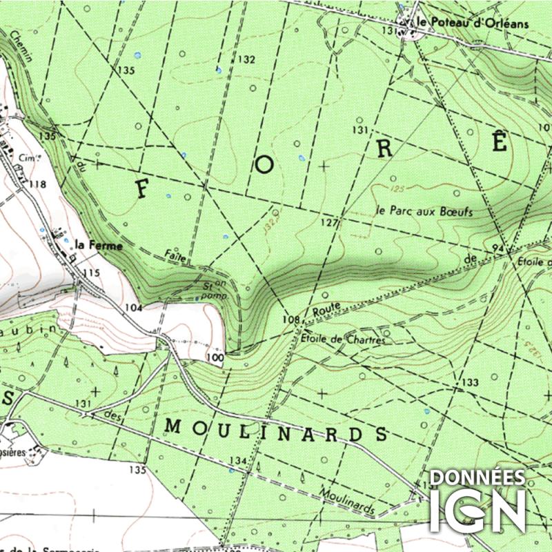 Département IGN - Eure et Loir 28 - 1 : 25 000
