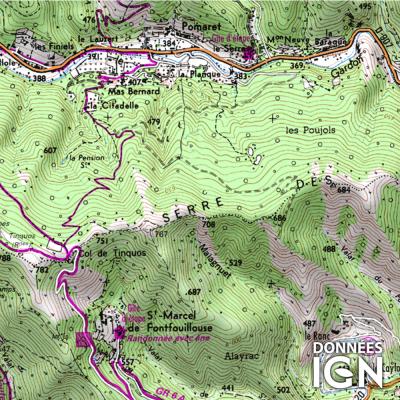 Département IGN - Gard 30 - 1 : 25 000