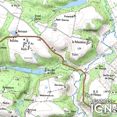 Département Gers (32) - 1 : 25 000