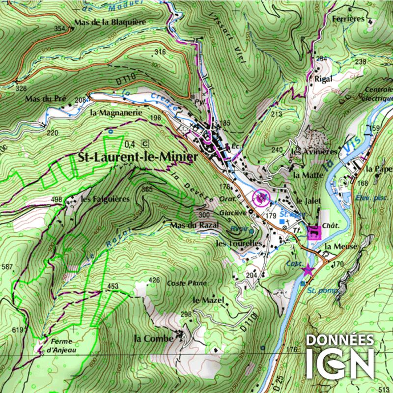 Carte Ign Au 1 25 000 Pour Gps Languedoc Roussillon