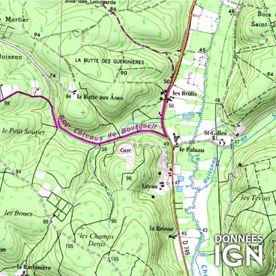 Département IGN - Indre-et-Loire 37 - 1 : 25 000