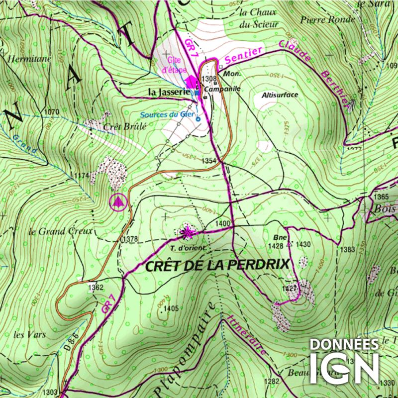 Département IGN - Loire 42 - 1 : 25 000